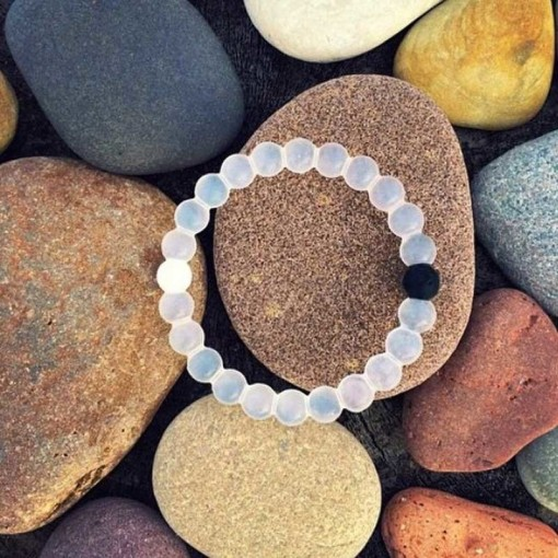 Orchrd Opaque Beads - White Translucent Beads - Coloured Beads Represent Earth and Water